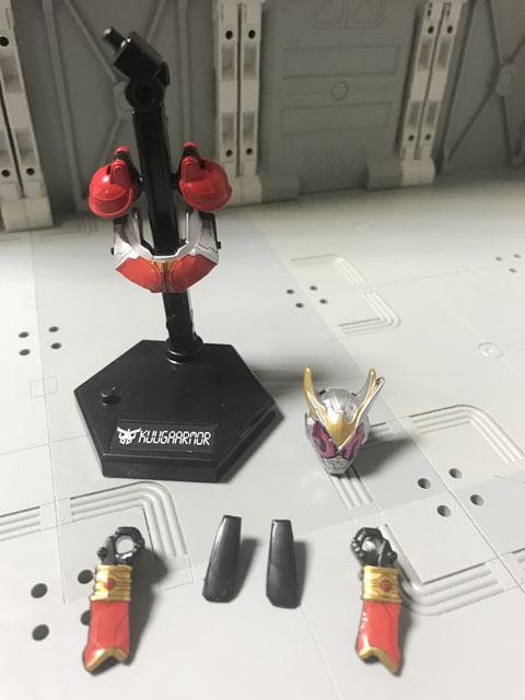 装動RIDE4の4 クウガアーマーセット 完成