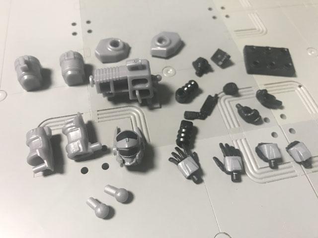 SHODO-X仮面ライダー2の6 拡張セット ランナーから外したパーツたち
