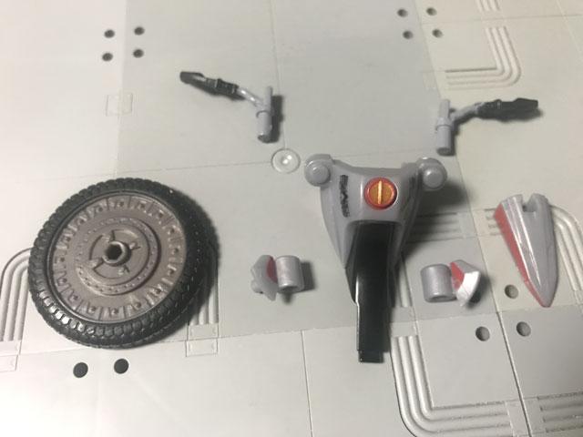 SHODO-X仮面ライダー2の4 オートバジン(A-side)の組み合わせるパーツ