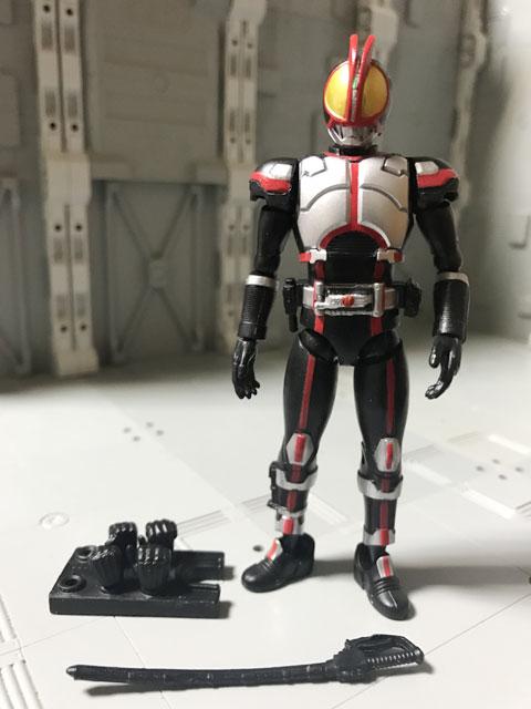SHODO-X仮面ライダー2の1 仮面ライダーファイズ 仁王立ちと付属品