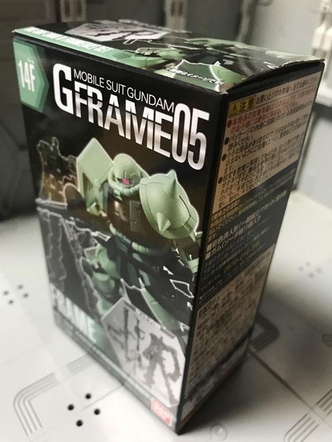 Gフレーム05 量産型ザク フレームセット パッケージ表面