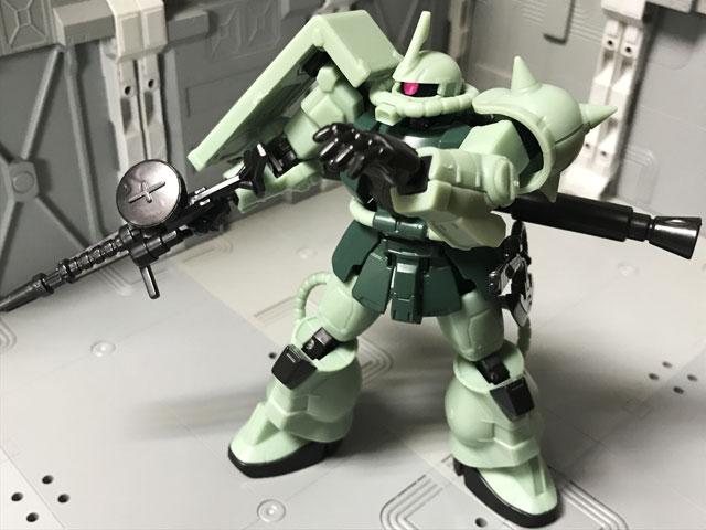 Gフレーム05 量産型ザク 中隊長用ツノに換装